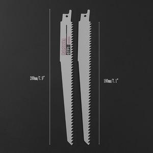 Image 5 - Yeni kalite 2 adet yüksek karbonlu çelik 6TPI 200mm pistonlu testere kesme bıçağı Metal ahşap