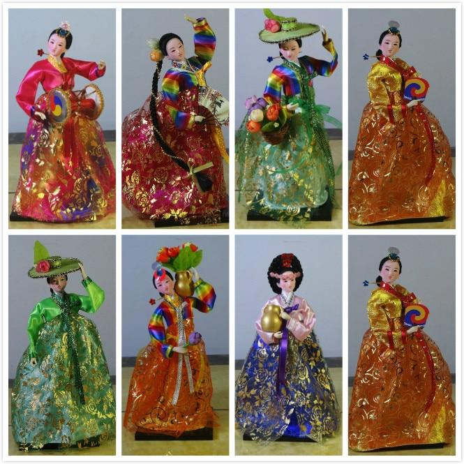 30cm Resin Korean Folk Doll Statuette Dolls Korean dolls Beauty Women Wedding Home Decor Art Gift Crafts for Home Decorations