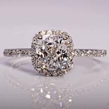 Choucong 3ct камень 5A Камень Циркон 925 серебро Обручение Обручальное кольцо Sz 5-11 Бесплатная доставка подарок