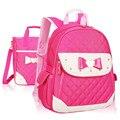 Children Bow School Bags for Girls Waterproof Nylon Backpack schoolbag satchel kids book bag mochila escolar shoulder rucksack