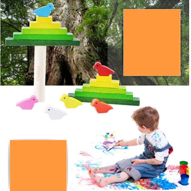 1 Set Hohe Qualität Tier Vögel Holz Blöcke Kinder Spielzeug Pädagogisches Lernen Blöcke Spielzeug Für Kinder Beste Geburtstag Geschenk
