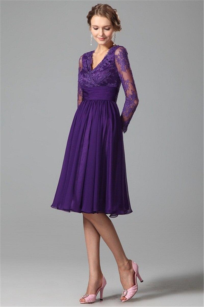 Purple bridesmaid dresses long sleeve wedding gallery long sleeves purple bridesmaids dresses 2017 a line v neck vintage ombrellifo Image collections