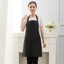 Black Yellow Lady Woman Apron Home Kitchen Chef Aprons Restaurant Cooking Baking Dress Fashion Apron with Pockets Cooking Green