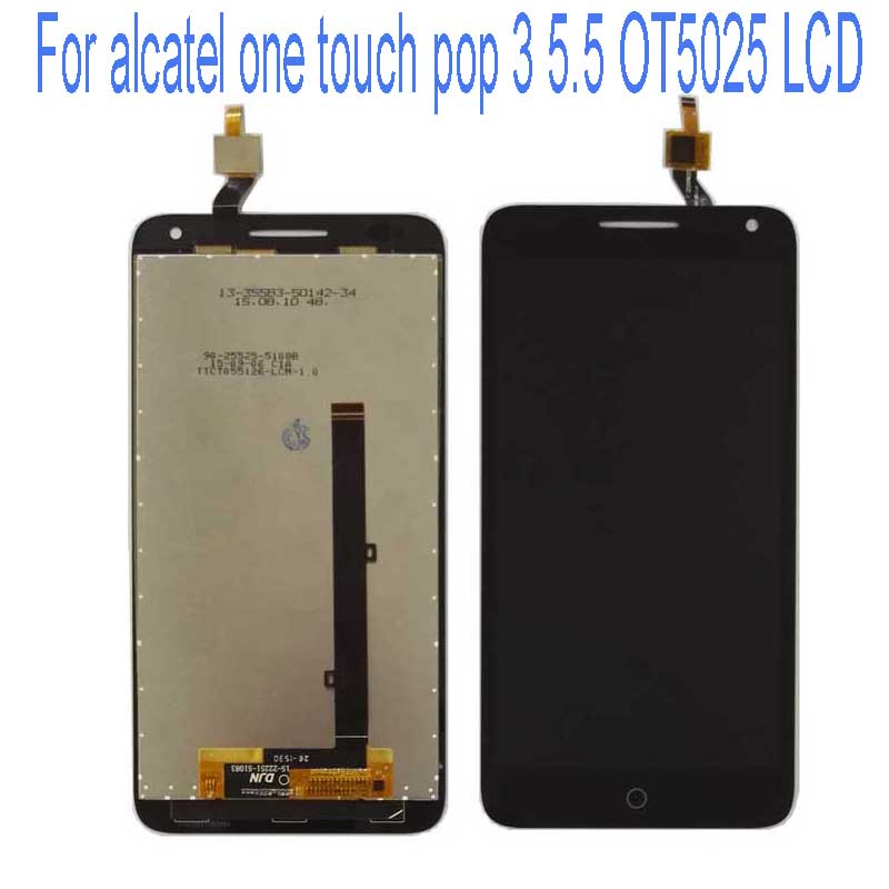 LCD DIsplay+Touch Screen Digitizer Assembly For Alcatel One Touch Pop 3 5.5 OT5025 5025D 5025 Free Shipping Black