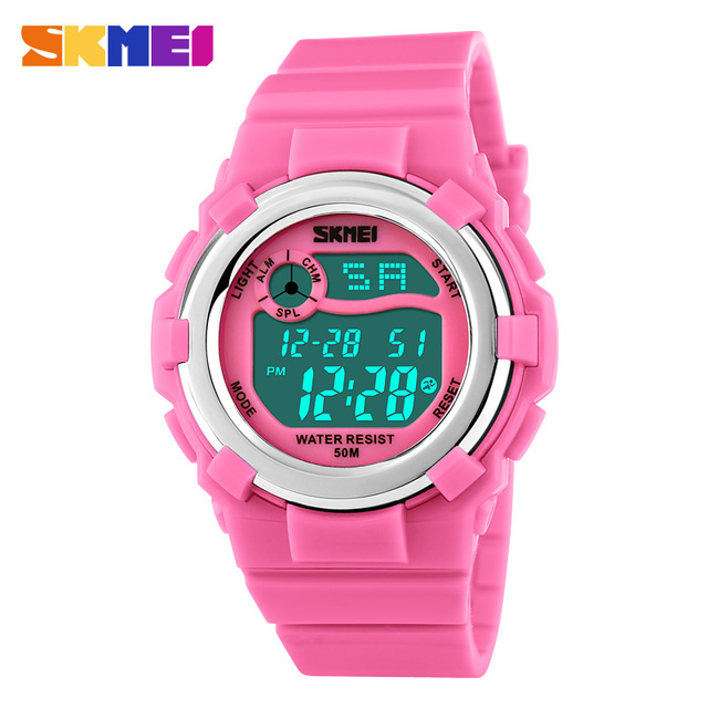 2017 SKMEI Brand Students LED Digital Watch Boys girls Waterproof Sports Watches Kids Cartoon Jelly Wristwatches Relojes Mujer