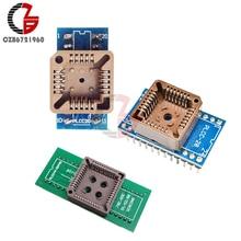 PLCC20 к DIP20 PLCC28 к DIP24 PLCC40 к DIP44 адаптер программатора EZ разъем IC тестовая розетка Универсальный конвертер