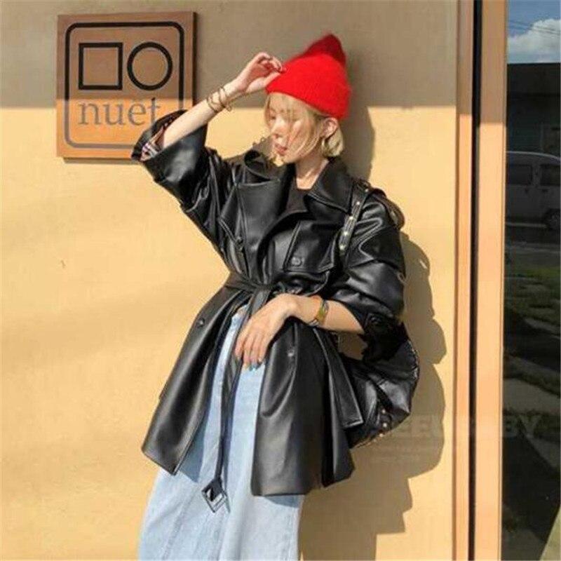 Dentelle De Femmes Streetwear Black Attendre Vestes Pour Cuir