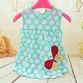 Monkids estilo summer baby dress princesa de verano infantil multicolor rayas vestidos de niña de bebé recién nacido niñas ropa de algodón