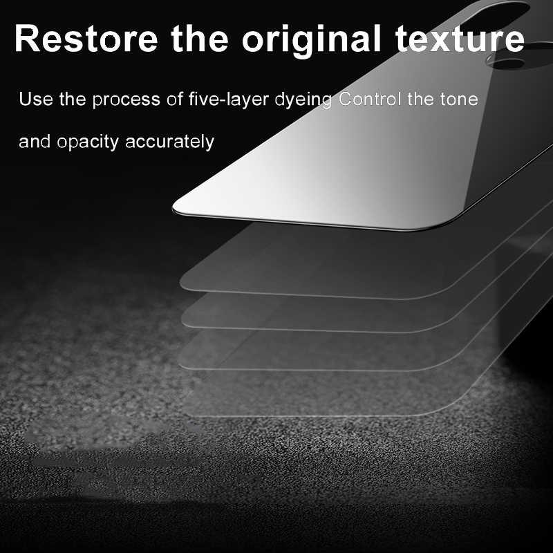 Baseus חזרה מגן מסך זכוכית מחוסמת עבור iPhone Xs מקסימום הגנה אחורית זכוכית עבור iPhoneXs Xs 6.5 מלא גב עקום סרט