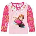 anna elsa girls t shirt children clothing  brand kids wear fashion spring/autumn long sleeve t shirt for baby girls enfant