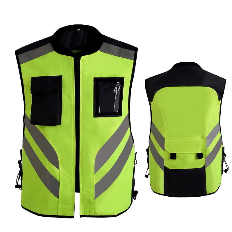 High Visibility Vest Motorcycle Reflective Jacket Cycling Sports Outdoor Safety Jacket
