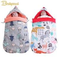New Print Envelope for Newborns Winter Cotton Massage Baby Sleeping Bag Stroller Windproof Blanket Winter Bag for Baby Nest