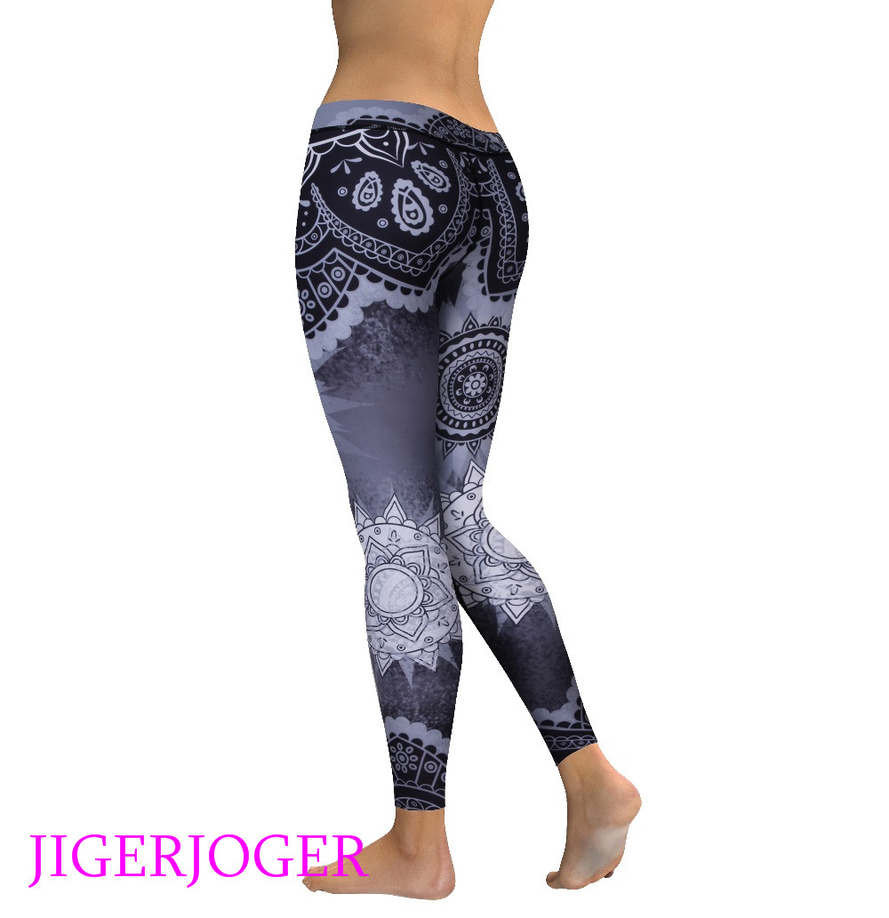 High waist grey mandala legging 2_