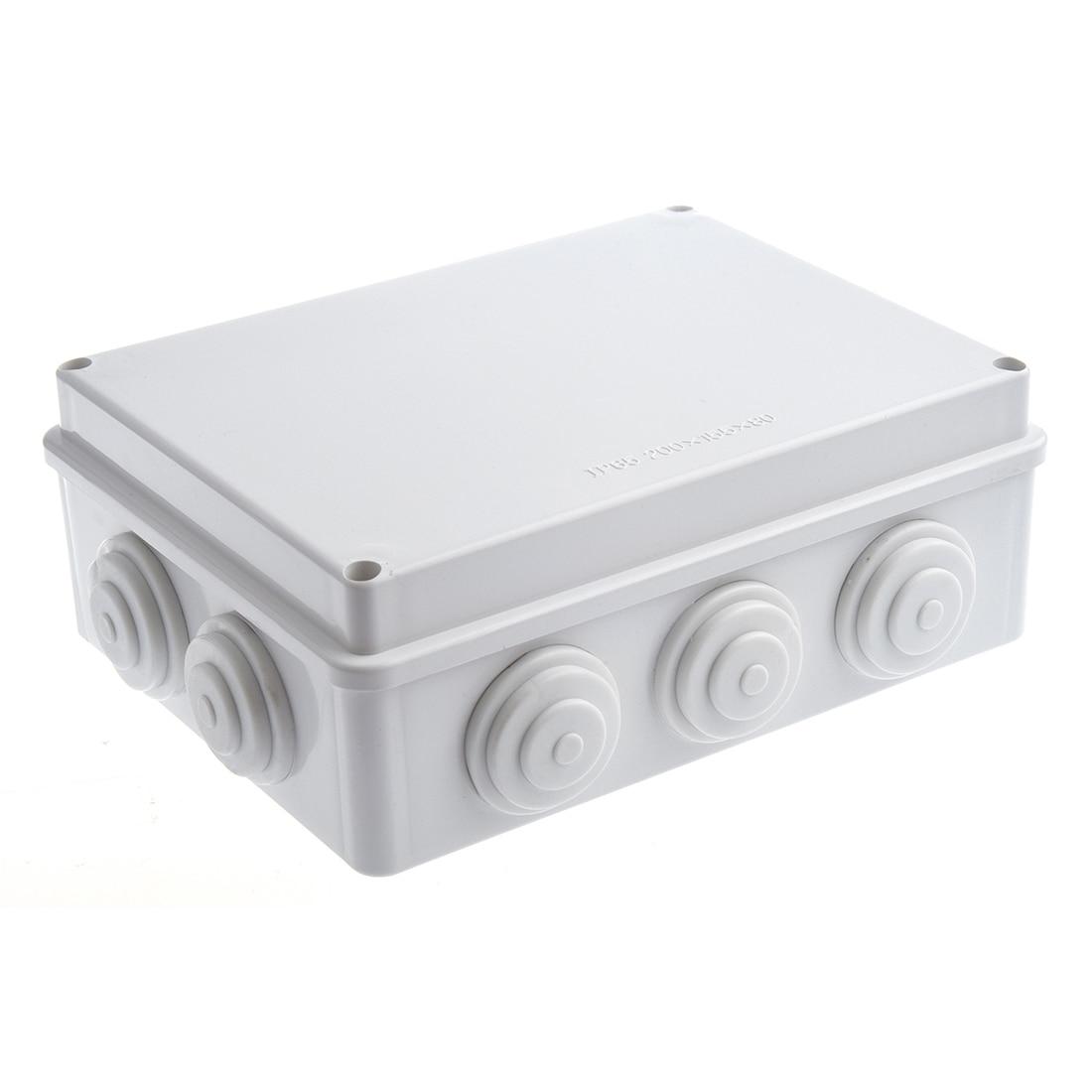 White ABS IP65 Waterproof EnClosure Junction Box 200mmx155mmx80mm box box box waterproof box ip65 - title=
