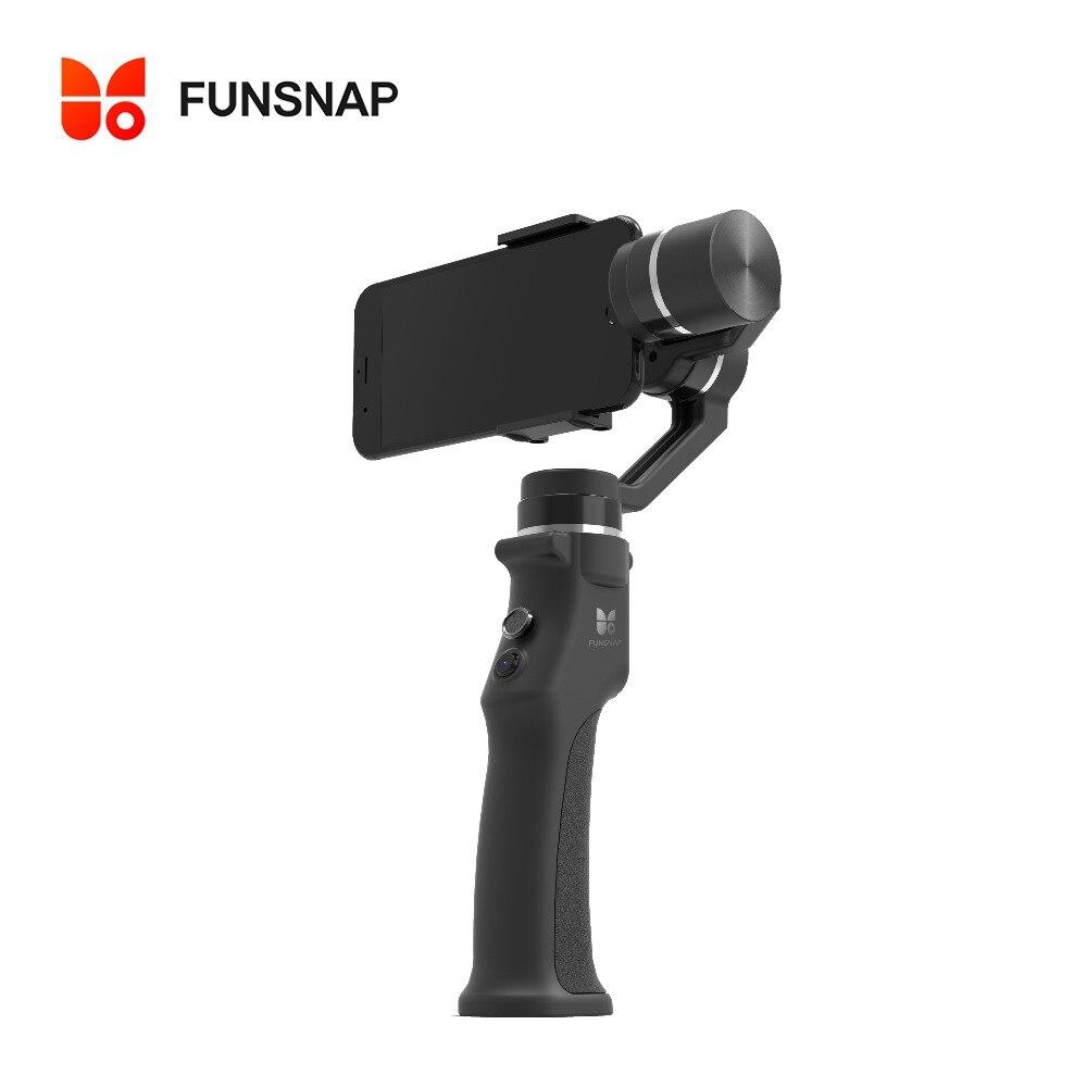 Funsnap захвата 3 оси ручной Gimbal стабилизатор для смартфонов GoPro 6 SJcam XiaoYi 4 К Камера не DJI Осмо 2 ZHIYUN FEIYUTECH
