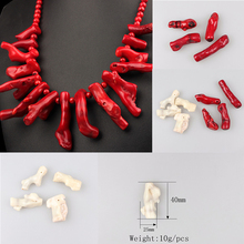100% Real Wholesale Natural Coral Branch Shaped Beads 45MM 1Pcs For DIY Jewelry Making Free Shipping