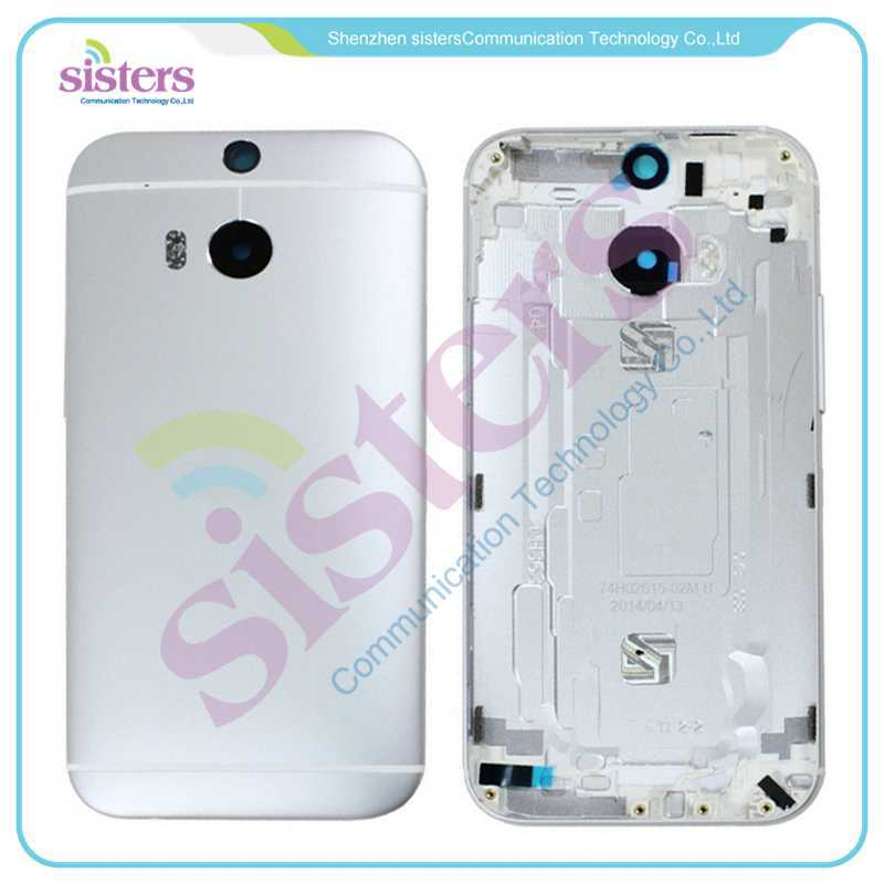 Wholesale Hot Sale Silver Gtey Gold Back Housing Cover <font><b>Case</b></font> <font><b>Battery</b></font> Door For <font><b>HTC</b></font> One 2 <font><b>M8</b></font> 831C Free Shipping image