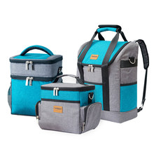 Large Capacity Insulation Cooler Bags Oxford Wine Lunch Tote Bag Bottle Thermal Backpack Food Fresh Keeping Picnic Package Stuff(China)