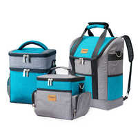 Large Capacity Insulation Cooler Bags Oxford Wine Lunch Tote Bag Bottle Thermal Backpack Food Fresh Keeping Picnic Package Stuff