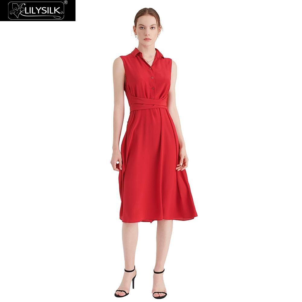 LilySilk Dress Shirt Silk Body Flattering Ladies Free Shipping