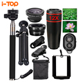 All in 1 Mobile Phone Lens Kit 12X Telephoto Zoom Lenses Fish eye Fisheye lentes For iphone 4 5 6 7 s Plus Samsung Xiaomi Huawei