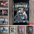 5 unids/lote Motocicleta Retro Carteles de chapa Bar Poster Metal de La Vendimia Pintura Decorativa Placas Art Craft 20x30 cm