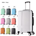 "20 22"" Frosted carry ons Hardside Luggages solid trolley travel case suitcase universal wheel rolling luggage valise cabine"