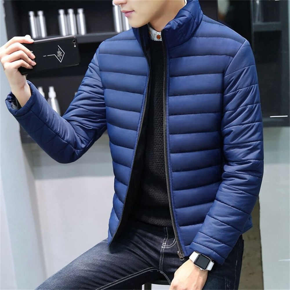 Mens Jackets And Coats Casual Jacket Men Clothes Cotton Denim Jacket Solid Zipper Coat Men Bomber Jacket Colete