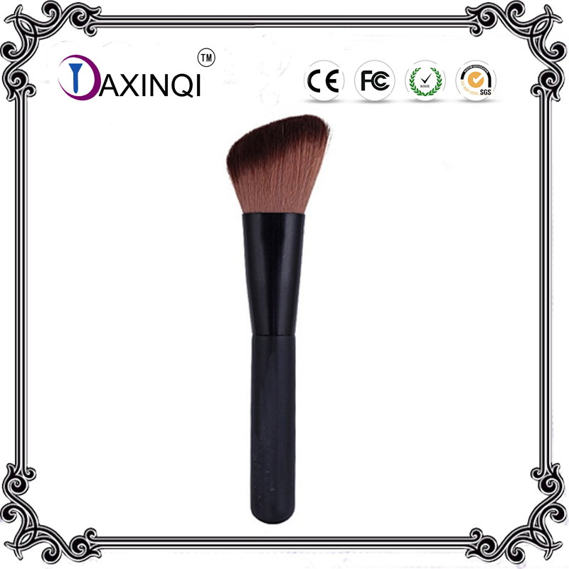 DAXINQI 1pcs Black  flat top angled thick blusher/face powder/liquid foundation Makeup Brush for free  shipping top quality foundation brush angled makeup brush