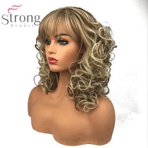 Image 5 - StrongBeauty שיער ארוך ומתולתל פאות סינתטיות של נשים בז בלונד לערבב פאות בלי כומתה, טבעי