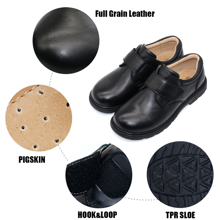 b3d68b2362126b Kalupao autumn black kids boys leather school shoes round toe soft cow  muscle sole party shoes boys dress wedding uniform shoes-in Leather Shoes  from Mother ...