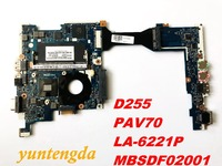 Original for ACER D255 motherboard D255  PAV70  LA 6221P  MBSDF02001 tested  good free shipping connectors|Laptop Motherboard|   -