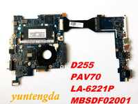 Original for ACER D255 motherboard D255  PAV70  LA-6221P  MBSDF02001 tested  good free shipping connectors