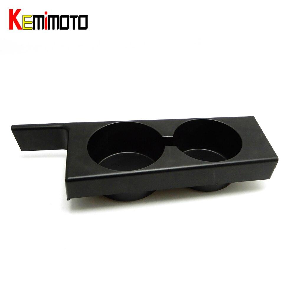 KEMiMOTO Soporte de vaso delantero negro Soporte de vaso de coche para BMW E39 5-Series 97-03 Soporte de vaso delantero delantero de plástico negro para coche
