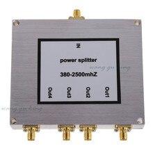 Novo 4 Way Poder Splitter 800-2500 MHz SMA RF Poder Splitter divisor de potência acessório reforço impulsionador do telefone móvel