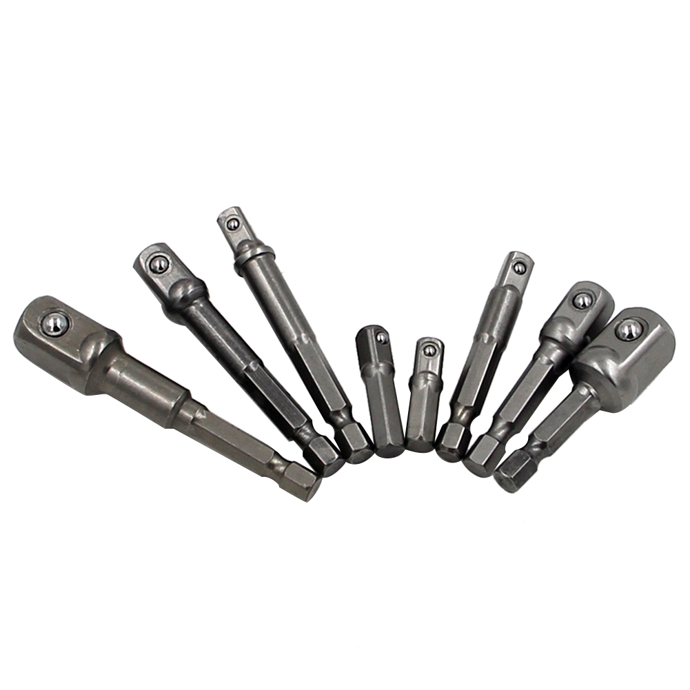 8 stks Socket Adapte Bits Set Hex Boor Moer Driver Power Shank 1/4 - Boor - Foto 4