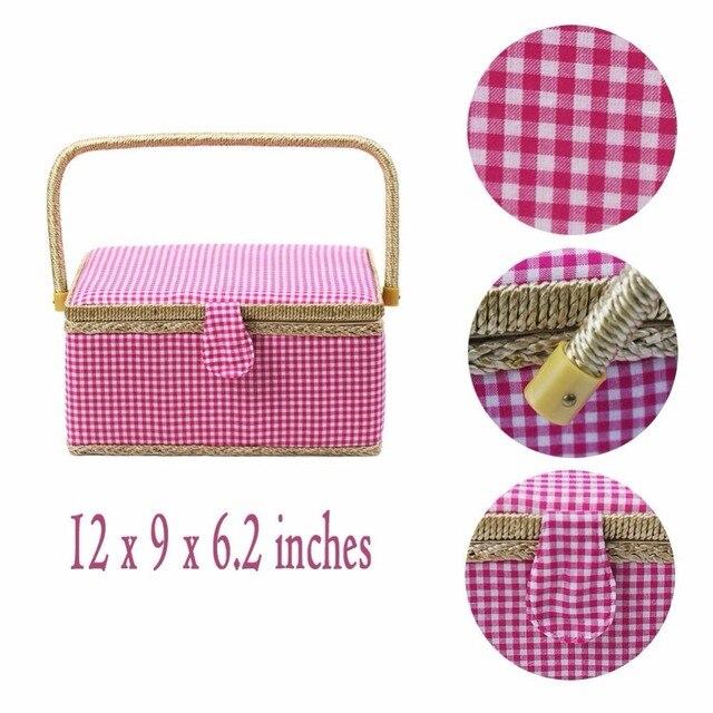 Aliexpress.com : Buy Pink Grid Pattern Storage Box Suitcase Divider ...