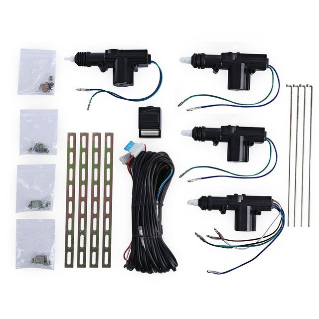Four Actuator Motor Vehicle Door Central Lock Keyless Entry Locking High Strength Car Safety Tool Kit TLT – 4D – 111 – WT 12V