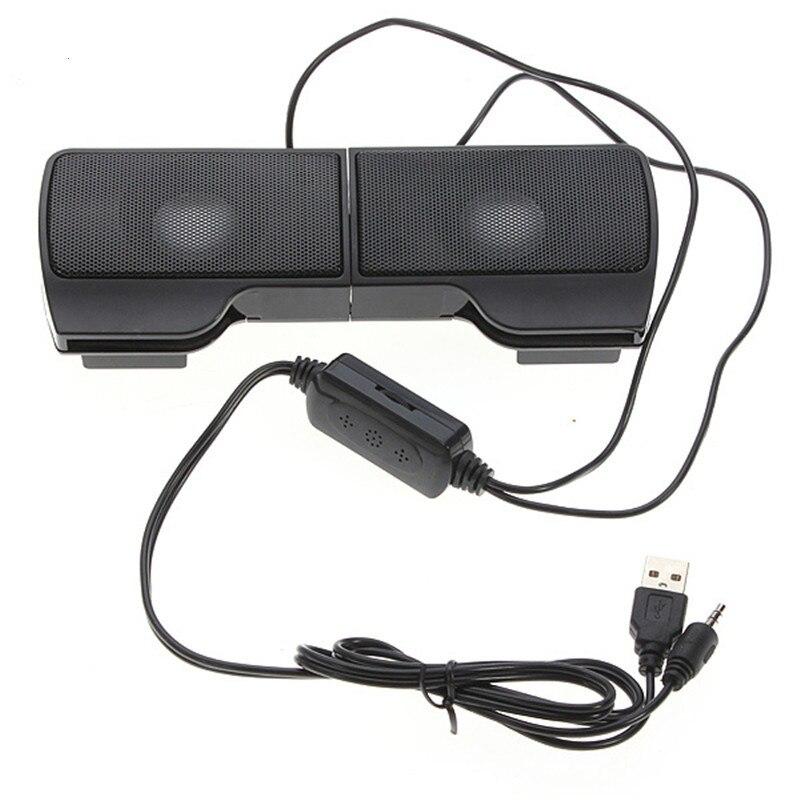 PLEXTONE 1 çift Mini taşınabilir klip üzerinde USB Stereo hoparlörler hattı denetleyicisi için Soundbar dizüstü Mp3 telefon müzik çalar PC klip