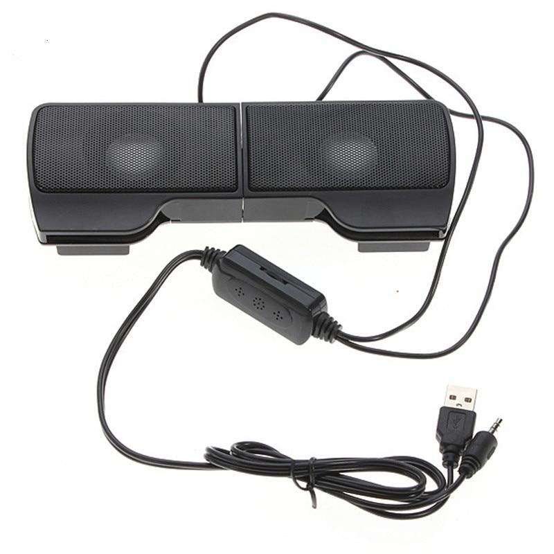 PLEXTONE1 Pair Mini Portable Clipon USB Stereo Speakers line Controller Soundbar for Laptop Mp3 Phone Music Player PC with Clip