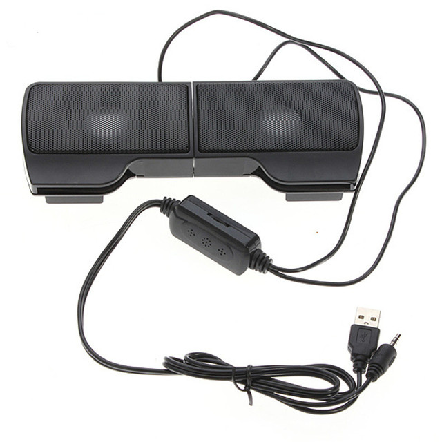 PLEXTONE 1 par Mini portátil Clipon USB altavoces estéreo línea controlador barra de sonido para portátil Mp3 teléfono reproductor de música PC con Clip