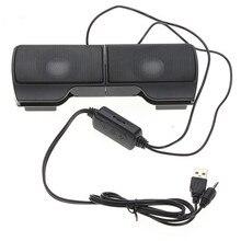 Plextone mini caixa de som portátil usb, controle de linha soundbar para laptop, mp3, telefone, tocador de música, pc clipe clipe