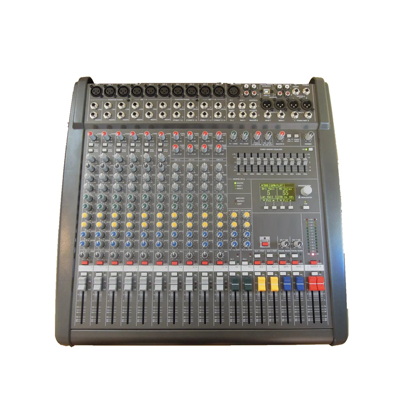 2016NEW!!! PowerMate 1000 10-way/1600 16-way power with amplifier Mixer effect Group 4 double effect with amplifier 2X1000