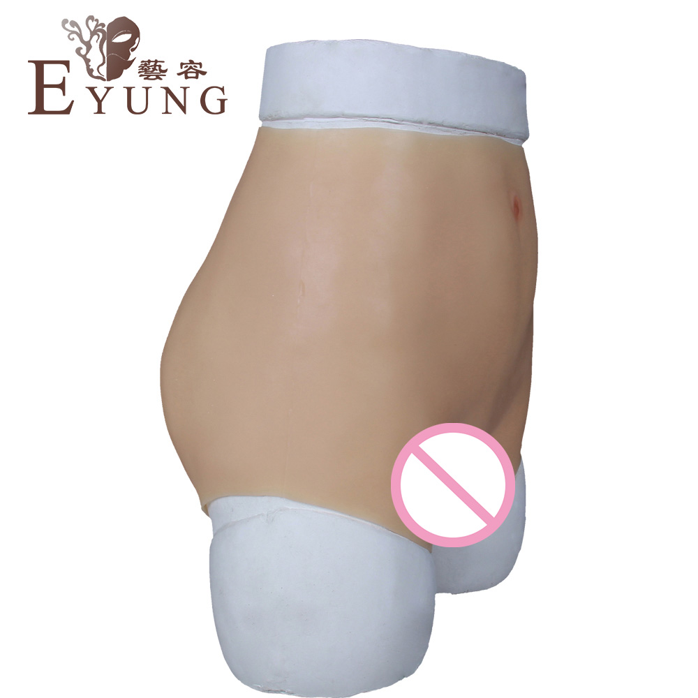 Tight waist silicone vagina underwear for crossdresser High imitation pussy briefs male to female crossdressing props drag queen