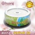 25 discos de Menos de 0.3% Tasa de Defectos 8.5 GB Huang Impreso En Blanco Discos DVD + R DL