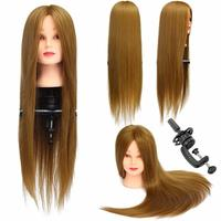 CAMMITEVER Cosmetology Hair Salon Hairdressing Practice Training Human Doll Mannequin Head With Clamp