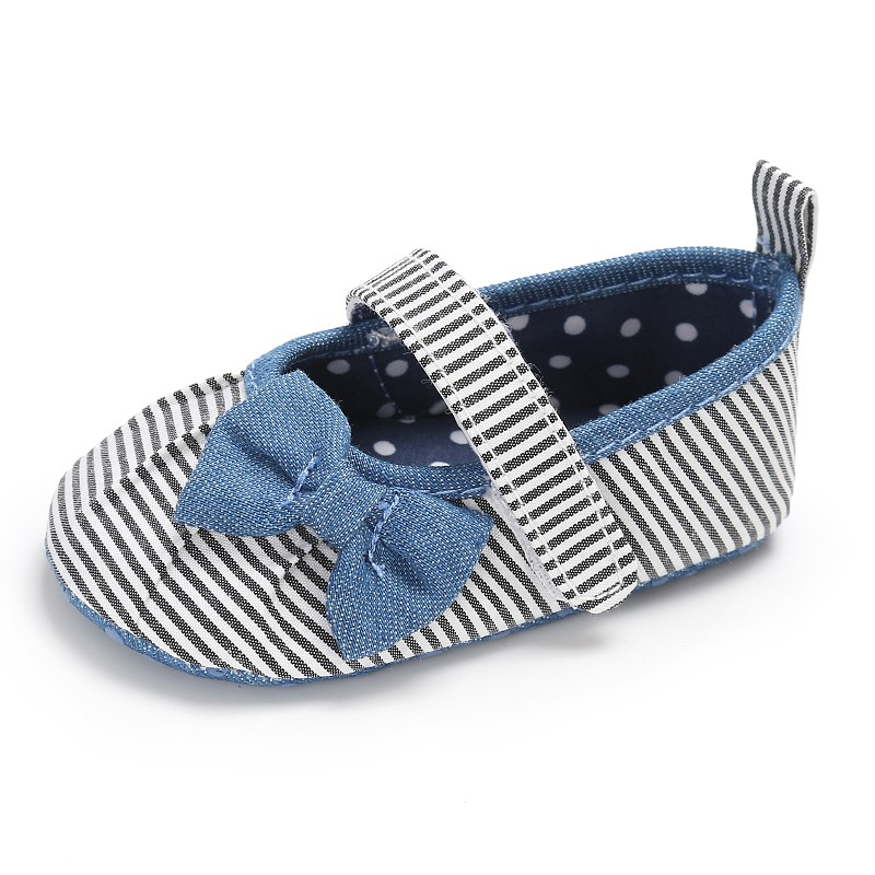 Fashion 2018 Baby Girl Princess Shoes New bow stripes princess shoes Baby shoes  Kids Newborn Infant Sneakers 0-18 Months S2