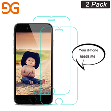 Фотография GUSGU 2.5D Screen Protector for iPhone 5 6s 7 8P X Tempered Glass Protective Film with Clean Tools 2 Pcs/lot
