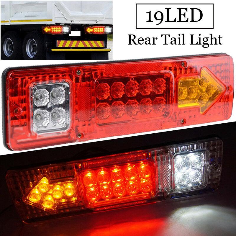 12V 19-LED Car Trailer Truck Rear Tail Light Brake Reverse Lamp Waterproof Trailer Truck LED Rear Tail Light Taillight