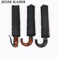JESSE KAMM Drop Shopping New High Quality Compact Folding Umbrellas For Women Men Gentlemen Hock Handle